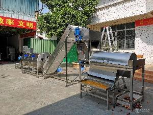 厂家供应全自动非压榨百香果分离加工线,百香果汁加工生产线设备