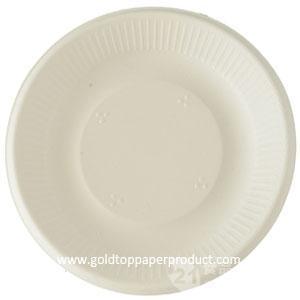 一次性白色紙盤出口品質印刷紙盤環保聚會用紙盤