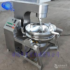 萬宏牌廠家直銷200公斤全自動行星攪拌炒鍋辣椒醬炒鍋