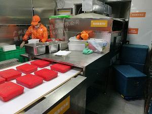 学校食堂盒饭加热杀菌机