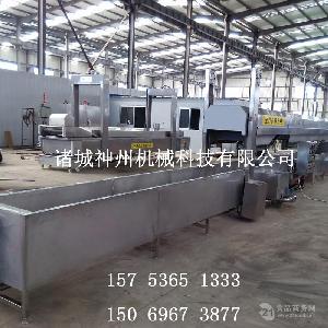 专业制造肉丸蒸煮线 不锈钢材质 诸城神州机械制造