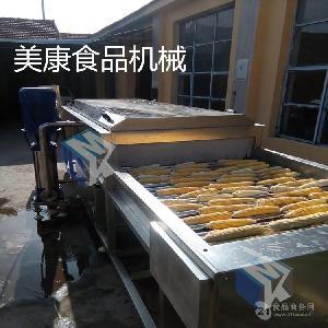 玉米清洗机  滚杠式玉米清洗流水线云南水果玉米清洗设备