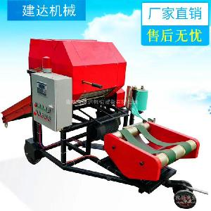 柴油机带小型玉米秸秆青贮饲料打捆机