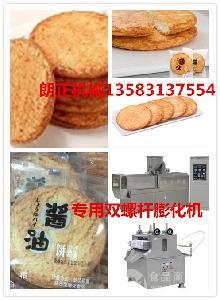 休闲食品酱油饼膨化机 酱油米饼加工设备