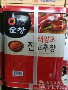 韓國清凈園順昌辣椒醬14kg 韓國不倒翁清凈園