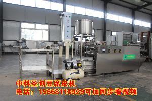 晋中和顺双层不锈钢豆腐皮机 小型自动豆腐皮机生产线多少钱