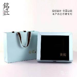 海参高档皮盒配套内盒手提袋