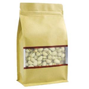 现货批发铝箔开窗八边封牛皮纸拉链袋拉链八边封袋定做零食袋
