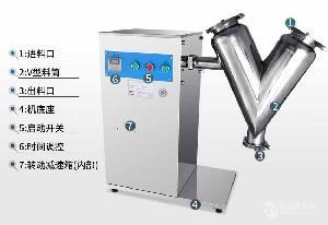 化工廠化工原料混合專用V型混合機圖片