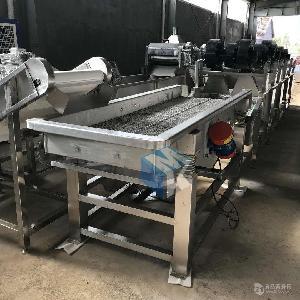 全自动蔬菜振动沥水机  果蔬清洗振动沥水风干线源头工厂