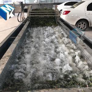 供应全自动大型脱水蔬菜高压清洗机 净菜清洗加工流水线价格