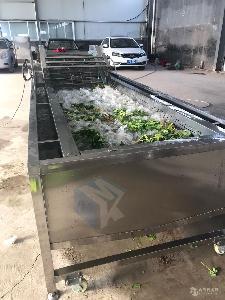 全自动不锈钢果蔬清洗机 美康生产大型蔬菜水果气泡清洗设备