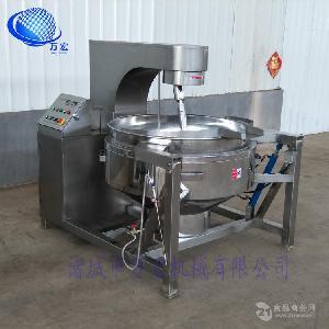 万宏牌厂家直销400公斤天然气式火锅底料行星搅拌炒锅牛肉酱炒锅