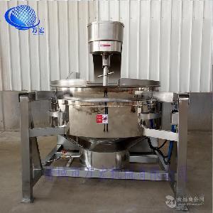 萬宏牌廠家直銷500公斤液化氣火鍋底料炒鍋牛豬肉醬攪拌炒鍋