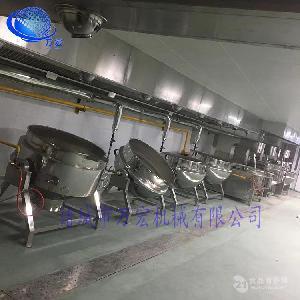 山东万宏机械50小型食品夹层锅猪蹄卤煮牛肉猪肉蒸煮锅
