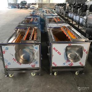 热销新型土豆毛辊清洗机  蔬菜去皮清洗设备