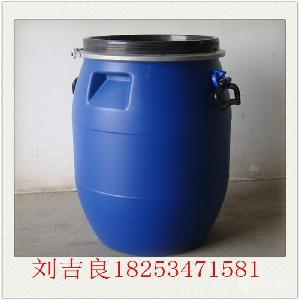 60公斤帶鐵箍藍桶60L防腐化工收納桶