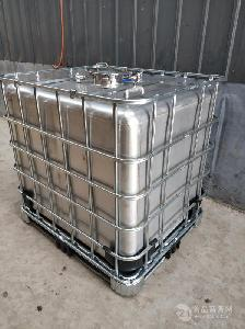 不銹鋼方桶 帶鐵架子噸桶