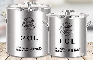 发酵桶10L直口304不锈钢桶价格