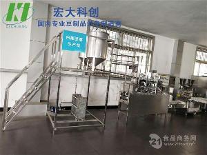 自动灌装封盒内酯豆腐机|郑州全自动内酯豆腐厂家|宏大