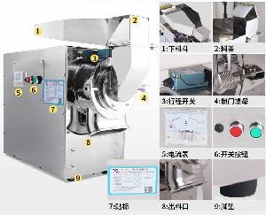 广州60C锤式不锈钢中药粉碎机