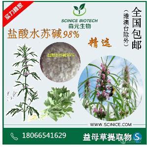 盐酸水苏碱 98% 益母草提取物 水苏碱 471-87-4 现货稳定供应