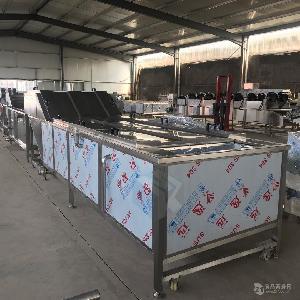 速冻蔬菜漂烫冷却生产线 蔬菜漂烫设备 果蔬漂烫预冷