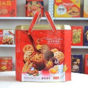 曲奇饼干礼盒868克铁盒