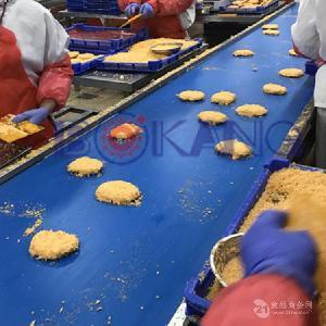 山东湿粉裹粉机 裹粉猪排生产线 裹湿面包粉