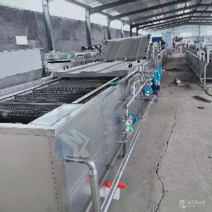 厂家直供冻干蔬菜漂烫杀青流水线 莲花菜漂烫冷却设备 果蔬漂烫