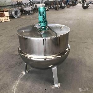 油炸蚕蛹带搅拌夹层锅 烤肉店专用不锈钢小型夹层锅