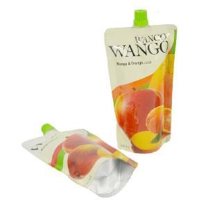 现货批发纯铝自立液体饮品250ml水果果汁果冻饮料食品吸嘴包装袋
