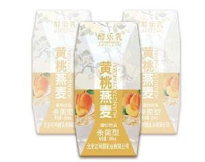 黃桃燕麥酸奶飲品