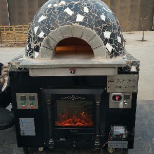 熔岩石那里有意大利披萨炉机器设备