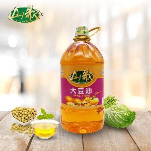 山歌非轉基因大豆油5L 國產大豆原料非轉認證食用油招標招商