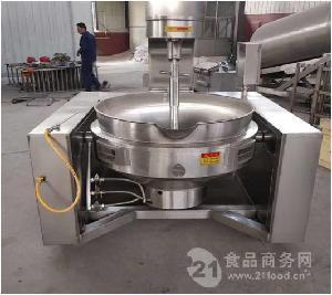 火锅底料熬制设备自动行星夹层锅三格机械