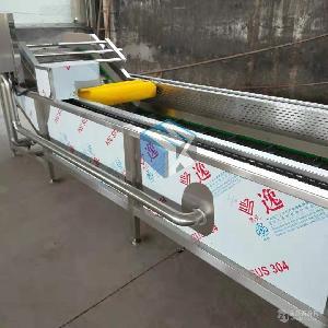 专业生产全自动连续式花椰菜专用清洗机 速冻花菜加工清洗设备