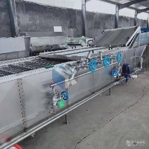 供应全自动螃蟹专用蒸煮机 大虾预煮流水线 海产品蒸煮设备