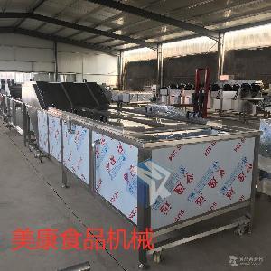 黄花鱼带鱼专用漂烫机 全自动海产品海鲜蒸煮预煮设备
