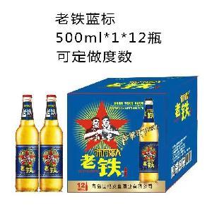 老铁蓝标500ml*1*12瓶