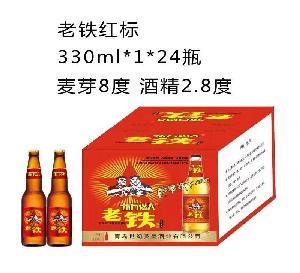 老铁红标330ml*1*24瓶