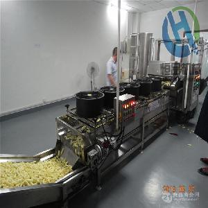 厂家直销复合薯条全自动生产线 恒品复合薯条专用油炸机